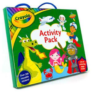 Libro Para Colorear Paquete De Actividad De Crayola y 200 Pegatinas reutilizables Niños Art Craft 3125