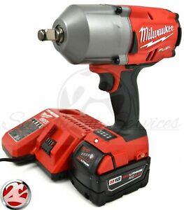 Milwaukee-2767-20-M18-FUEL-1-2-034-1400-FT-LBS-5-0-Ah-High-Torque-Wrench-Impact-Kit