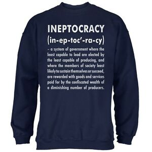 de bleu Sweat marine shirt d'Ineptocracy adulte définition OXPuTkZi