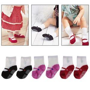 2x-Newborn-Cute-Cotton-Shoes-Floor-Socks-Boots-Anti-slip-Unisex-Baby-Girls-Boy