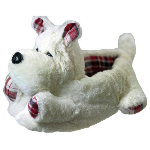 Westie Terrier Scotty Chiens Nouveauté femmes filles mignon Chaussons Animaux Cadeau de Noël