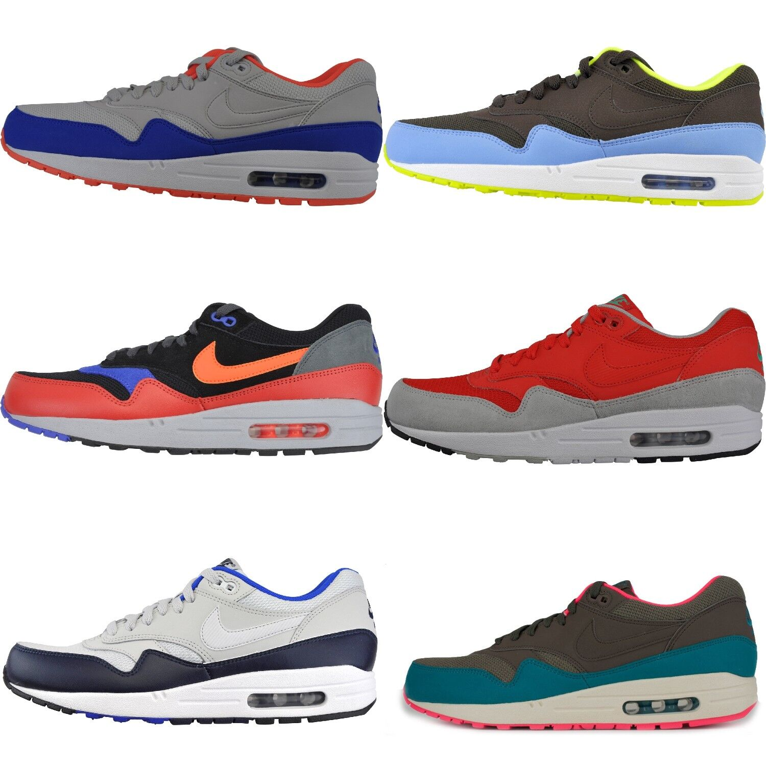 Nike Air Max 1 ESSENTIAL TRAINERS Trainers Textile/Leather