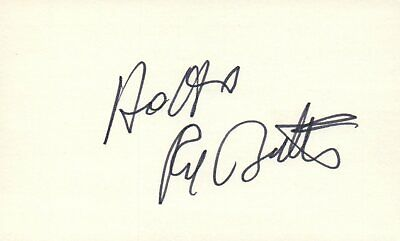 Red Buttons Actor Comedian 1976 Shirley Maclaine Autographed Signed Index Card Movies Cards & Papers
