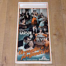 ORGOGLIO E PREGIUDIZIO locandina poster Laurence Olivier Greer Garson MGM B28