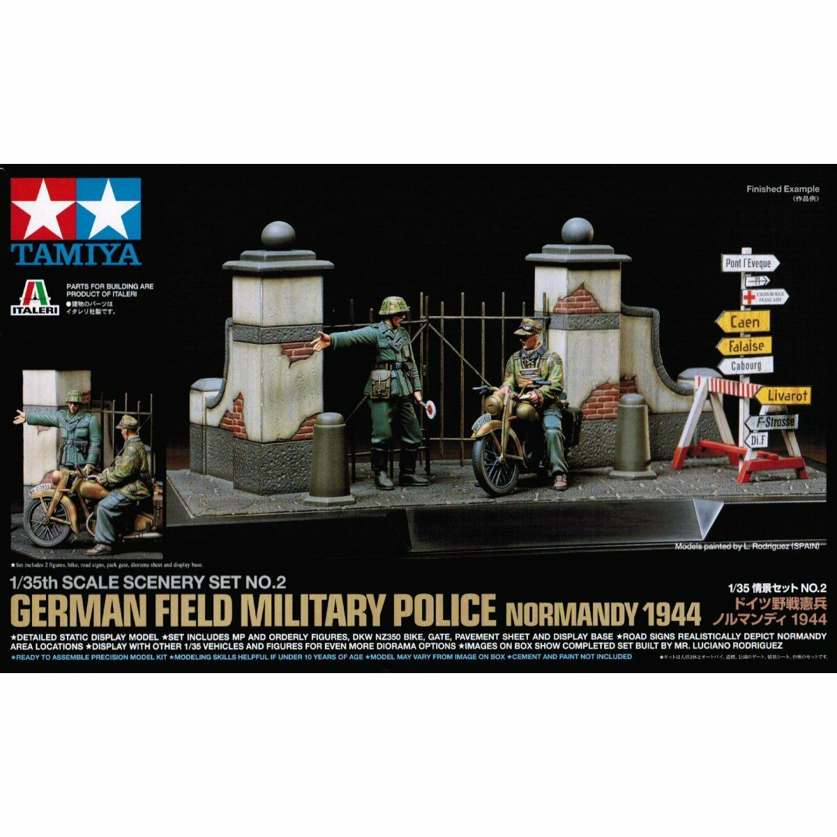 Tamiya 89740 Scene Set 2 German Field Police 1 35 Scale Military Model Kit