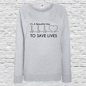 Greys Names 100/% Cotton Greys Anatomy Ladies Fit Sweatshirt