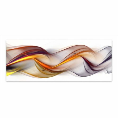 """Wohnzimmer Wand Glas Bild Glasbild /""""Abstrakt/"""" von DEKOGLAS 125x50 aus Acrylglas"""
