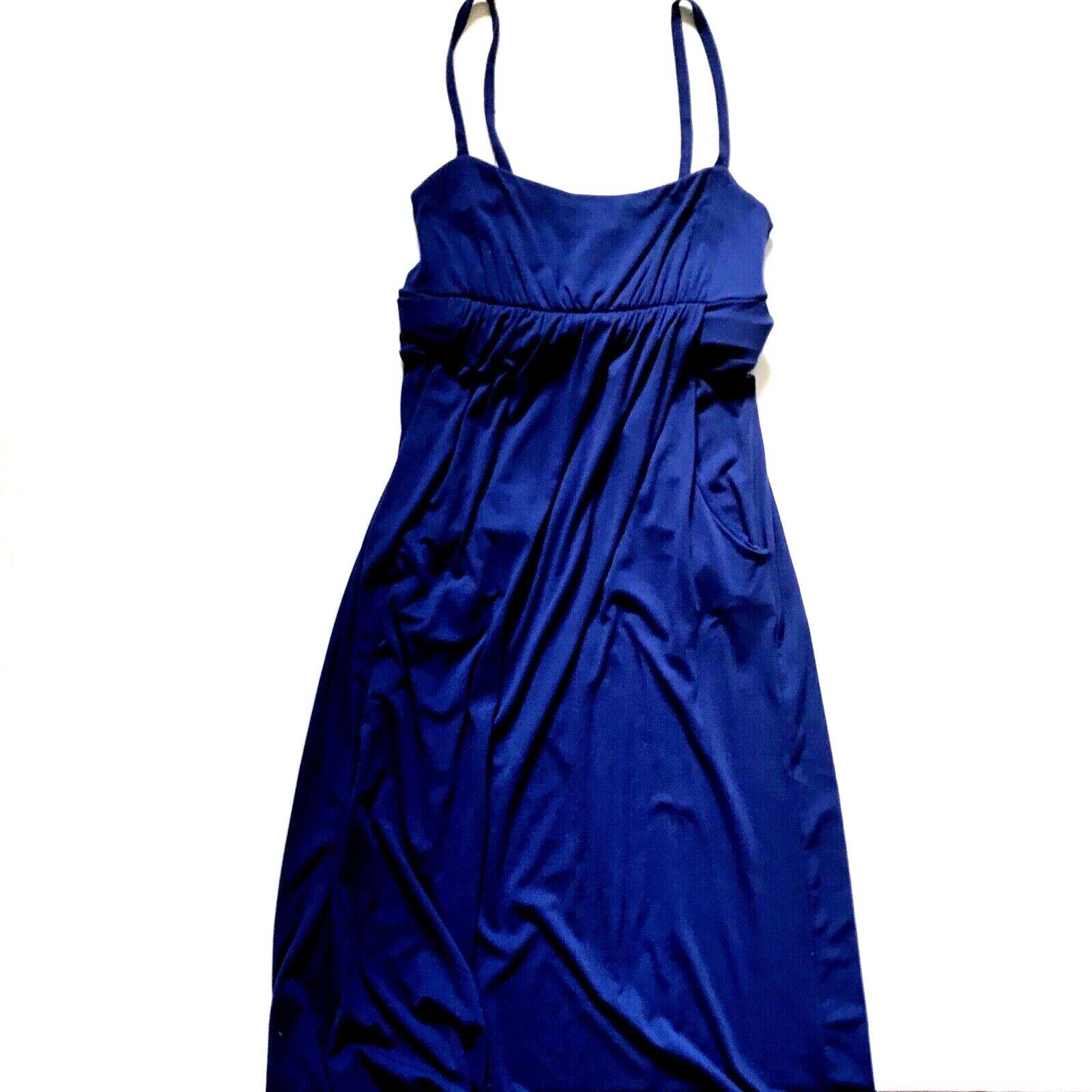 Susana Monaco Maxi Tank Dress damen Medium Navy Blau Sleeveless Long Maxi EUC