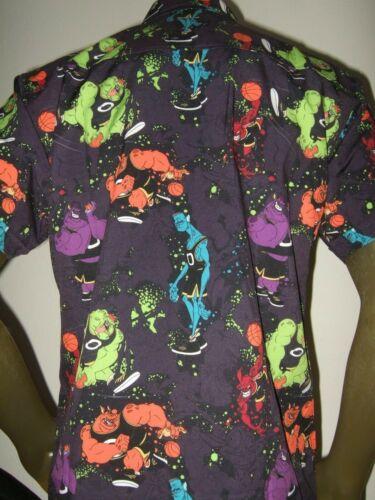 Men/'s RSVLTS Space Jam Nerdluck Monstars Bang Bupkus Blanko Pound Nawt Shirt NEW