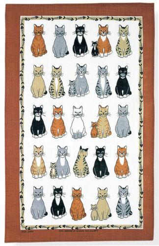 """Ulster Weavers pur lin imprimé Thé Serviette /""""les chats sont arrivés/"""""""