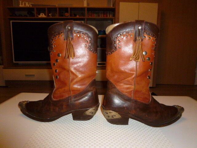 EXTREM SELTENE Vintage Cowboy Stiefel 44-45 Echtleder Gr. 44-45 Stiefel 962b60