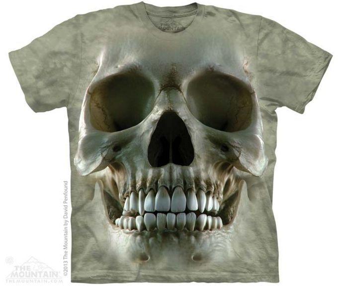 T-Shirt  The Mountain - Big Face Skull , 100% Baumwolle, Gr. S - 5XL, NEU & OVP    | Viele Sorten