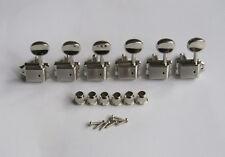 Left Handed 6 Inline Strat/tele Vintage Guitar Tuning Keys Tuners Nickel