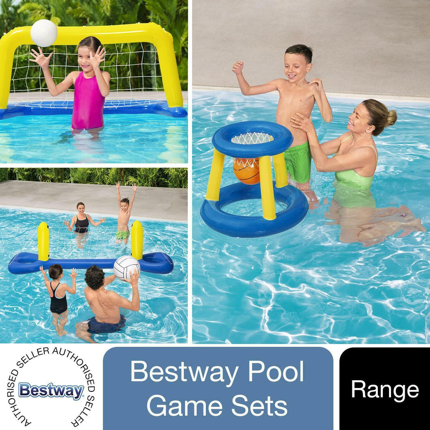 Bestway Basketball, Polo or Volleyball Water Inflatable Swimming Pool Games Set