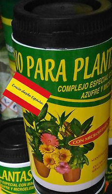 Abono Para Flores Y Plantas Con Hierro Y Microelementos