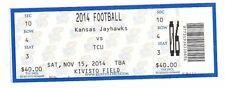 2014 KANSAS JAYHAWKS VS TCU HORNED FROGS TICKET STUB 11/15 COLLEGE FOOTBALL