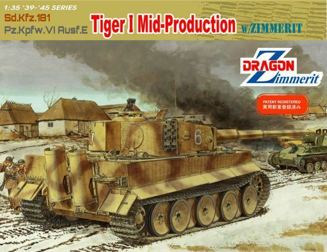 1 35 DRAGON 6700 GERMAN TIGER I AUSF E MID PRODUCTION ZIMMERIT. NEW