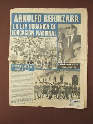 Edicion 1968 Panama Periodico Expreso Organo Oficial De La Union Nacional Ebay