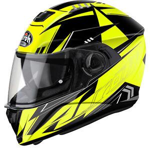 Image is loading Airoh-Storm-Battle-Yellow-Motorbike-Helmet-Full-Face- 48245c794d2