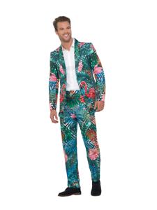 Herren Kostüm Florida Flamingo Anzug Karneval Fasching Smi