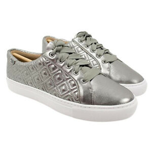 afe7f069b9152 Image is loading Tory-Burch-Marion-Quilted-Metallic-Lace-Up-Sneaker-
