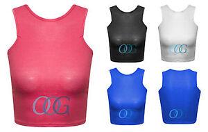 New-Womens-Crop-Top-Ladies-Sleeveless-Stretch-Crop-Vest-T-Shirt-Tee-Bra-Top-8-14
