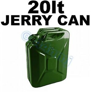 20lt Jerry Gerry Can army green METAL for Petrol diesel