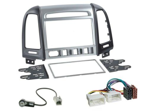 Kit de integracion doble DIN autoradio para Hyundai Santa Fe 4 interruptores a partir de 11