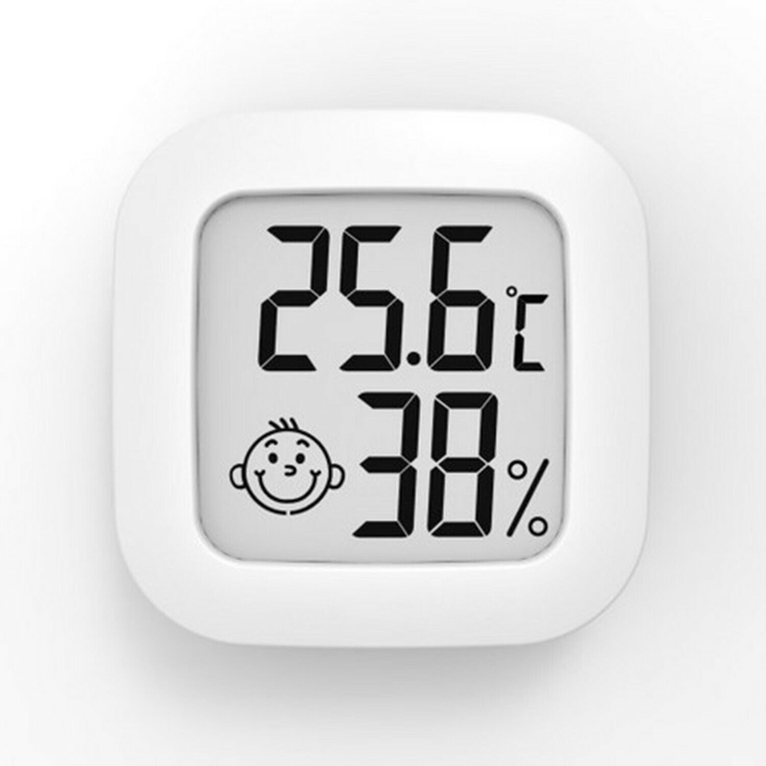 Indoor Room Mini Thermometer Hygrometer With Smiley-Face Temperature Humidity