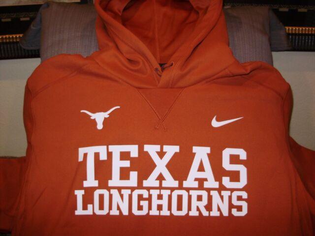 0fe1dc5c92295 Texas Longhorns Nike Therma-Fit Vapor Speed Pullover Hoodie Jacket Men s XL