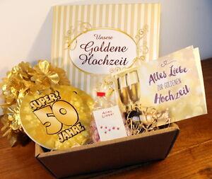 Goldhochzeit Goldene Hochzeit Geschenke Set Geschenkideen