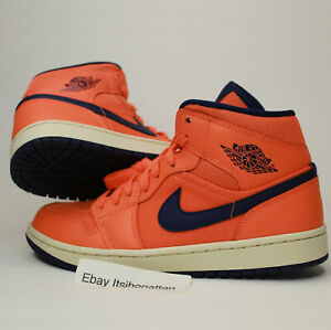 Air-Jordan-1-Mid-Women-039-s-Shoes-Size-9-5-Turf-Orange-Style-CD7240-804-New