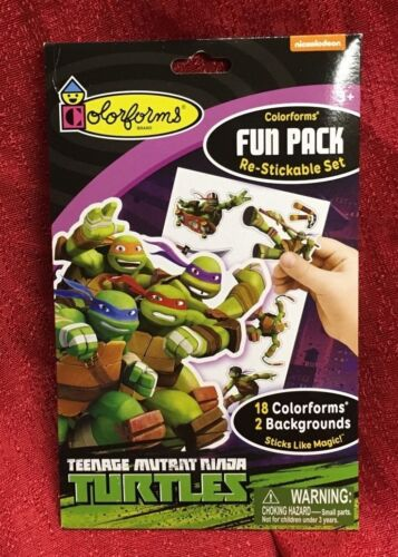 Colorforms Teenage Mutant Ninja Turtles Fun Pack Re-stickable Set