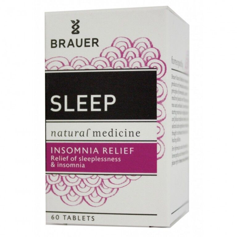 BRAUER SLEEP INSOMNIA SLEEPLESSNESS RELIEF 60 TABLETS RELAX NATURAL MEDICINE 1