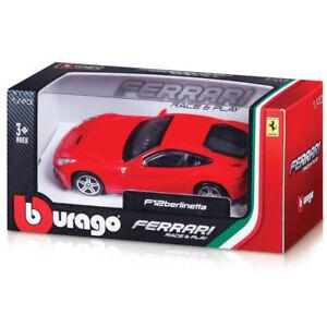 BBURAGO-FERRARI-RACE-amp-PLAY-1-43-SCALA-DIECAST-MODELLO-AUTO-Giocattolo-Regalo-Molti-Modelli