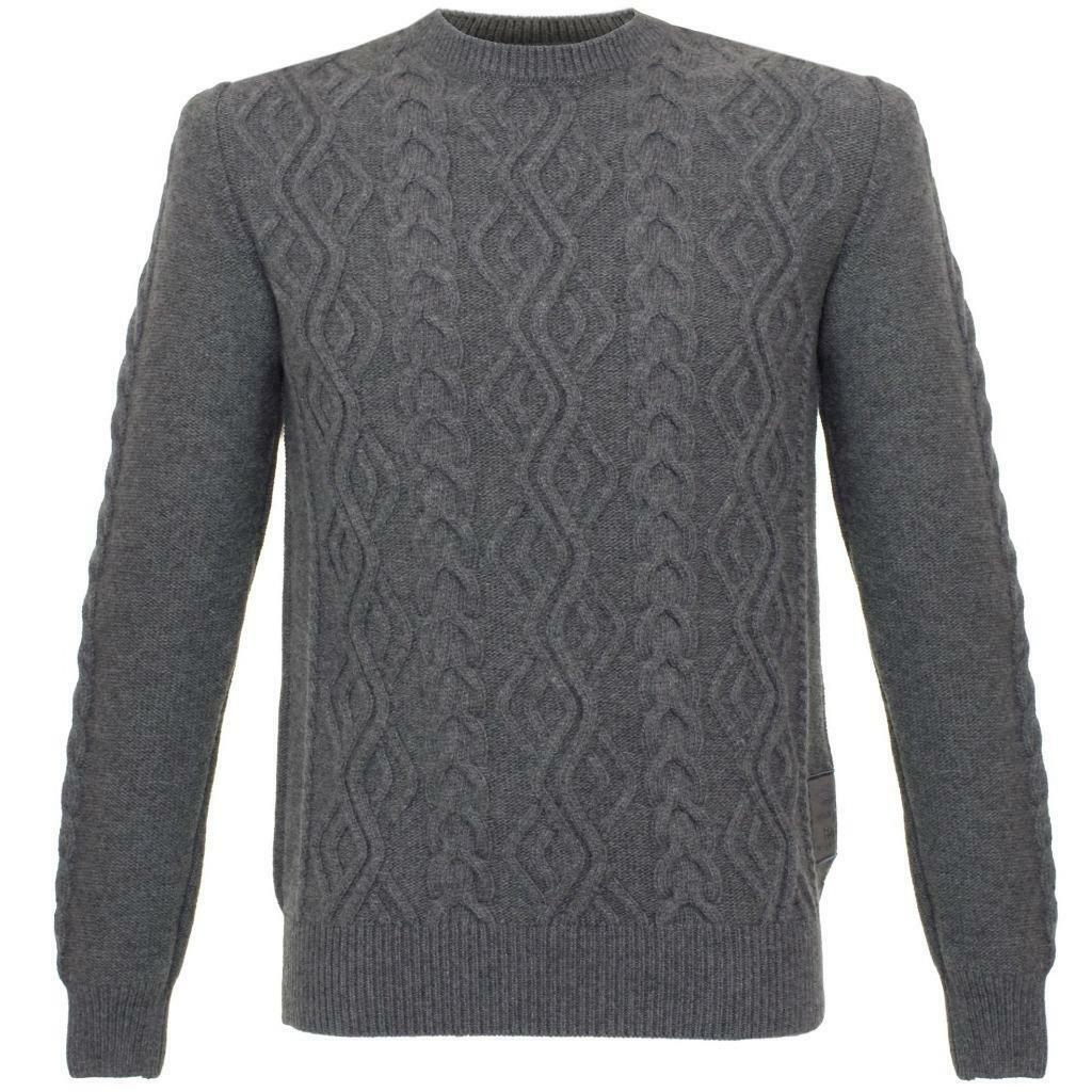 Barbour Beacon Barnard Jumper Sweater Cable Knit Wool XXL Charcoal Grau