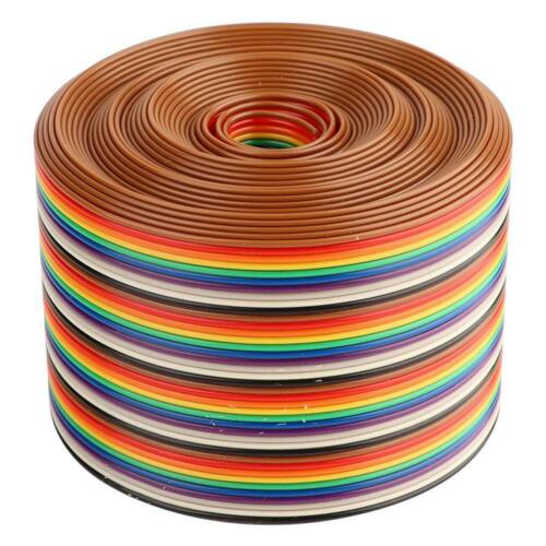 40 Pin Flat Rainbow Ribbon Cable Wire 1.27mm Spacing Pitch 1//2//3//4//5 meters