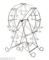 Godinger Ferris Wheel Cupcake Holder Rotates Holds 8 Cupcakes Brushed Chrome