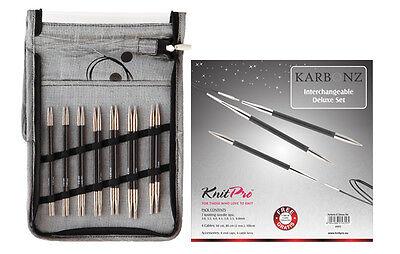 KnitPro KARBONZ Deluxe Set auswechselbare Karbon Rundstricknadel