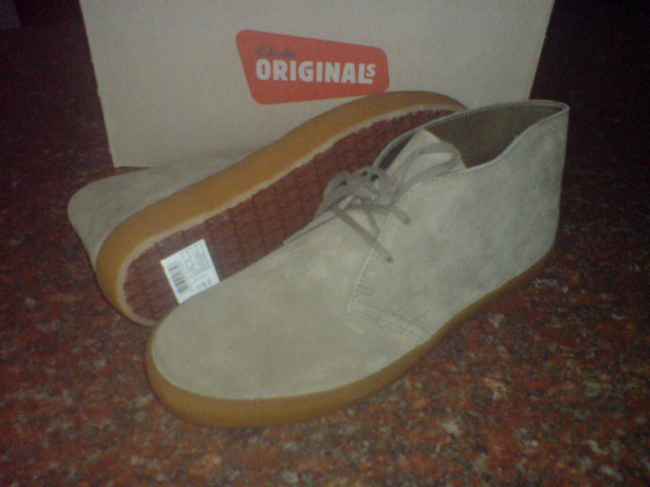 Clarks Originals  Herren    DESERT PRESTON  BLACK or KHAKI SUEDE   UK 6,7,8 91fb64