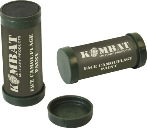2 COLOUR MILITARY CAMO FACE PAINT STICK CREAM BROWN AND OLIVE GREEN NEW
