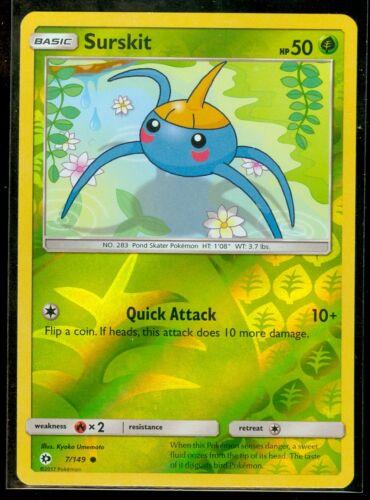 MINT! Sun /& Moon Rev Holo Pokemon SURSKIT 7//149