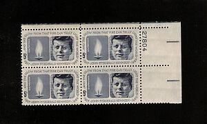 US-STAMP-1246-JONH-F-Kennedy-PLATE-BLOCK-MINT-NH-OG-L-K