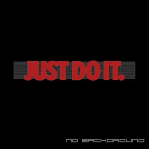 Just do it Decal Sticker American Sport Exercise mlb mls soccer swoosh Pair