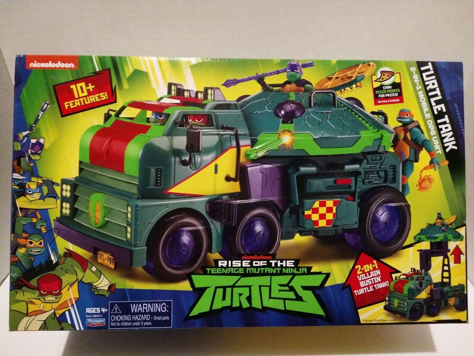 PLAYMATES RISE OF Teenage Mutant Ninja  Turtles Deluxe TANK VEHICLE nuovo   consegna diretta e rapida in fabbrica