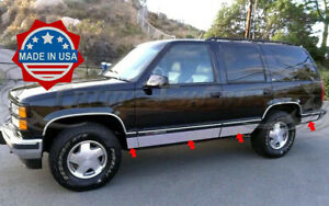 1995-1999-Chevy-Tahoe-4Dr-Rocker-Panel-Trim-Side-Molding-6-25-034-N-Flare-8Pc