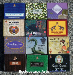 Kamini-Best-Top-Variety-Pack-Incense-Cones-12-x-10-Cone-120-Total-Mixed-Lot