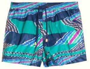 e69db76900 MISSONI MARE Italy Men's Slub Print Swim Trunks / Bathing Suit M ...