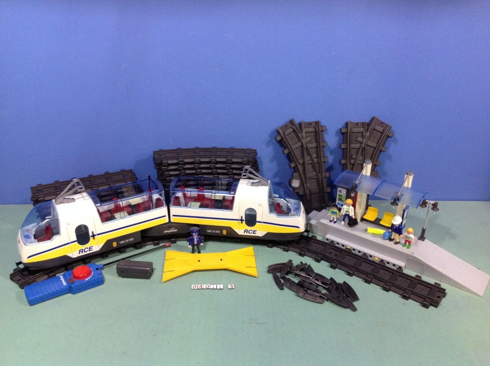 (O4011.3) playmobil Train RC  ref 4011 + gare 4304 6343  grandi risparmi