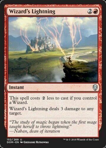 MTG Dominaria DOM Mint//NM Pack Fresh 4x Wizard/'s Lightning